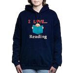 I Love Reading Women's Hooded Sweatshirt
