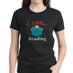 I Love Reading Women's Dark T-Shirt