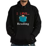I Love Reading Hoodie (dark)