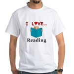 I Love Reading White T-Shirt
