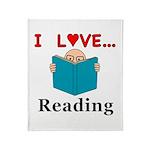 I Love Reading Throw Blanket