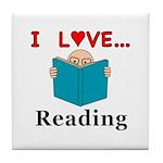 I Love Reading Tile Coaster