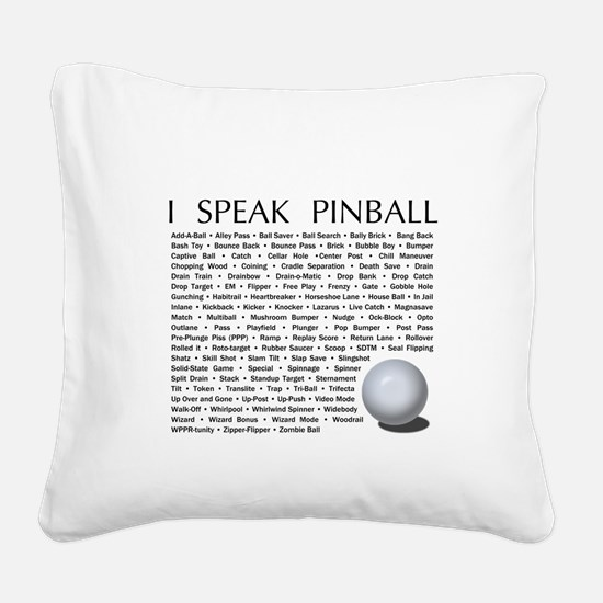 Cute Pinball Square Canvas Pillow