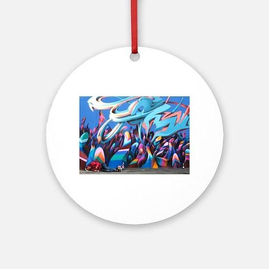 Cool Graffiti art Round Ornament