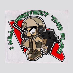 Airsoft Protect flag Throw Blanket