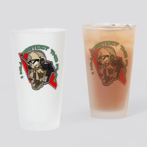 Airsoft Protect flag Drinking Glass