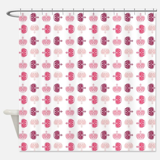 PINK CROWNS Shower Curtain