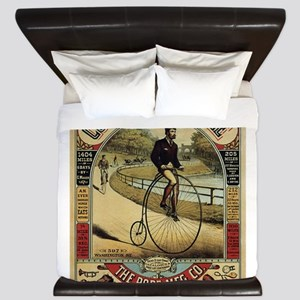 Vintage poster - Columbia Bicycle King Duvet