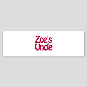 Zoe's Uncle Bumper Sticker