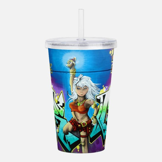 Unique Gamer chick Acrylic Double-wall Tumbler