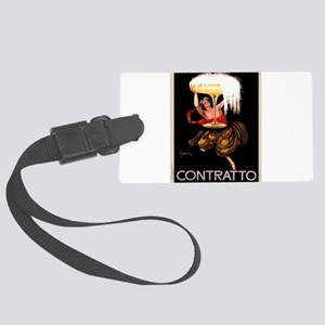 Vintage poster - Contratto Large Luggage Tag