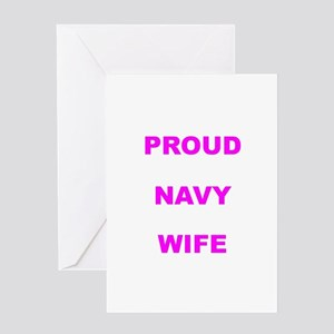 PROUD NAVY Greeting Cards