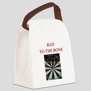 darts joke Canvas Lunch Bag