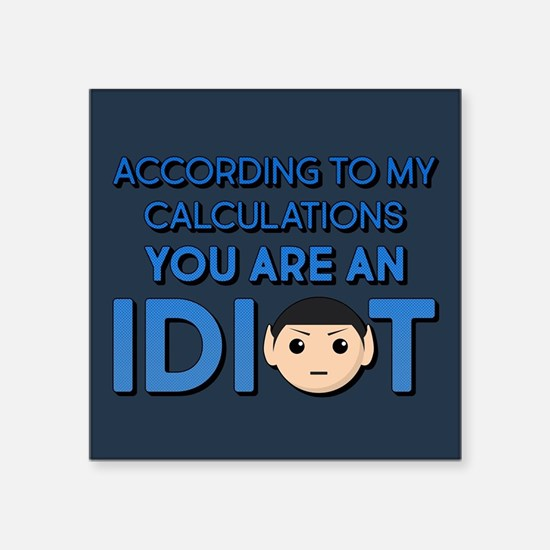 "Star Trek According To My C Square Sticker 3"" x 3"""