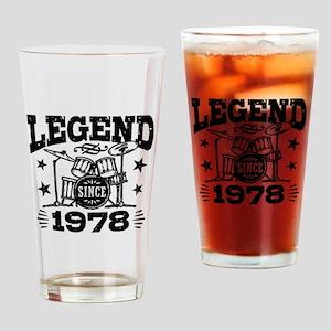 Legend Since 1978 Drinking Glass