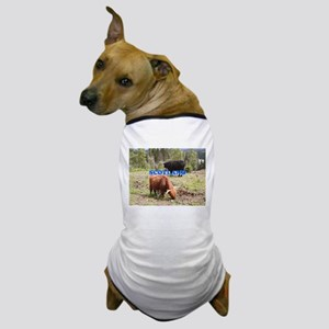 Scotland:two highland cattle Dog T-Shirt
