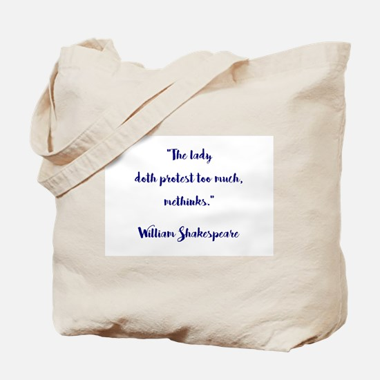 THE LADY DOTH... Tote Bag
