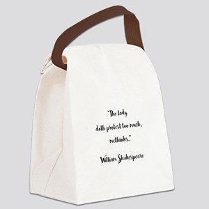THE LADY DOTH... Canvas Lunch Bag