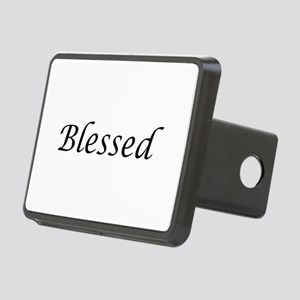 Blessed Calligraphy Style Rectangular Hitch Cover