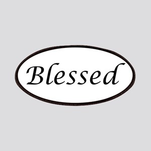 Blessed Calligraphy Style Patch