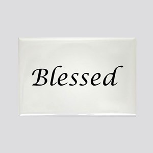 Blessed Calligraphy Style Rectangle Magnet