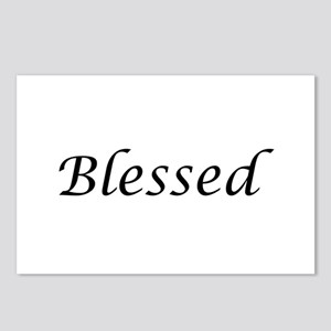 Blessed Calligraphy Style Postcards (Package of 8)
