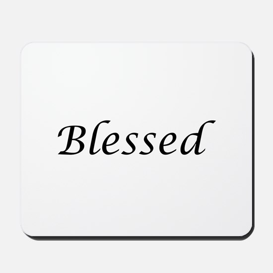 Blessed Calligraphy Style Mousepad