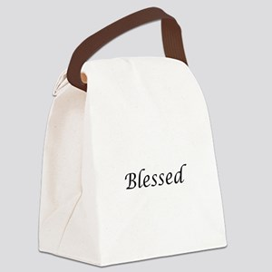 Blessed Calligraphy Style Canvas Lunch Bag