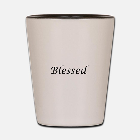 Blessed Calligraphy Style Shot Glass