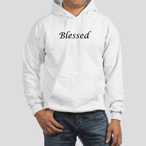 Blessed Calligraphy Style Hooded Sweatshirt