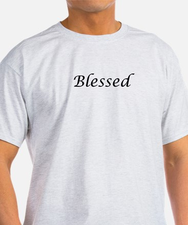 Blessed Calligraphy Style T-Shirt