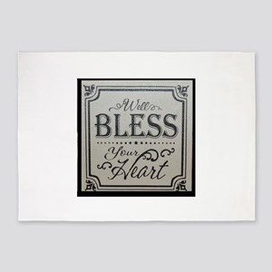 well bless your heart 5'x7'Area Rug