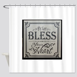well bless your heart Shower Curtain