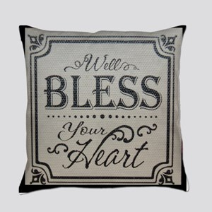 well bless your heart Everyday Pillow