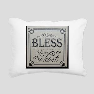 well bless your heart Rectangular Canvas Pillow