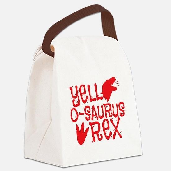 Yell-o-saurus rex Canvas Lunch Bag
