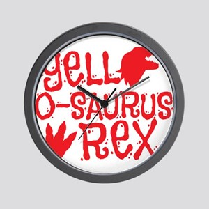 Yell-o-saurus rex Wall Clock