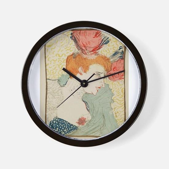 Vintage poster - Woman Wall Clock