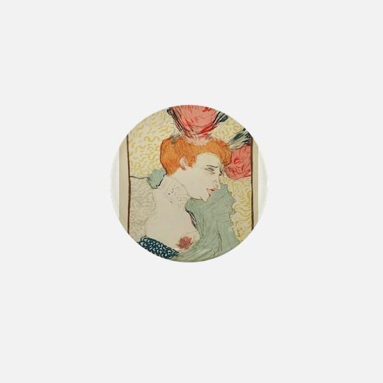 Vintage poster - Woman Mini Button