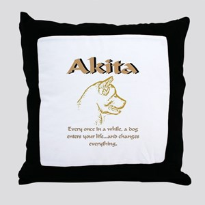 Akita Love Throw Pillow