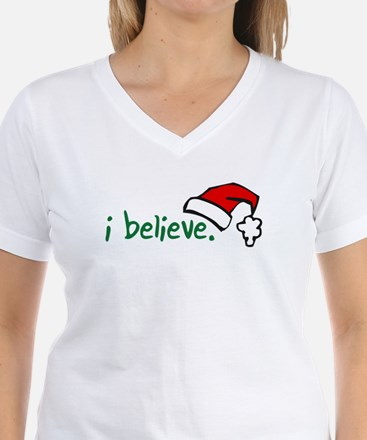 i believe. Women's Dark T-Shirt