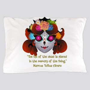 Sugar Skull with Quote Pillow Case