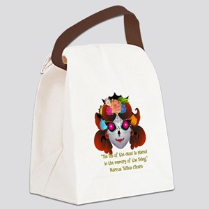 Sugar Skull with Quote Canvas Lunch Bag
