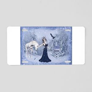 ice queen Aluminum License Plate