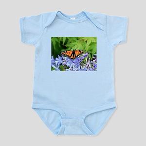 Monarch butterfly in garden Body Suit