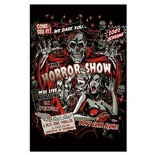 Horror Movie Monsters Spook Show Large Poster
