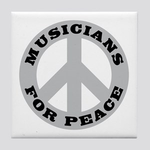 Musicians For Peace Tile Coaster