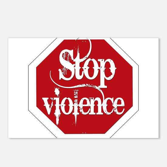 Stop Violence Postcards (Package of 8)