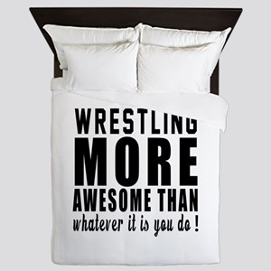 Wrestling More Awesome Designs Queen Duvet