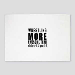 Wrestling More Awesome Designs 5'x7'Area Rug